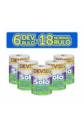 Solo Dev Rulo Havlu 6'lı Set