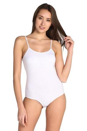 Tutku Kadın Beyaz 6'Lı Paket İp Askılı Likralı Kancalı Çıtçıtlı Body 0148