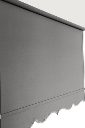 Brillant Stor Perde Mat Gri 90 x 260 cm Etek Dilimli
