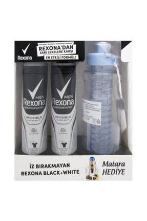 Rexona Men Invisible Bw Deo Sprey 2x150 Ml + Su Matarası