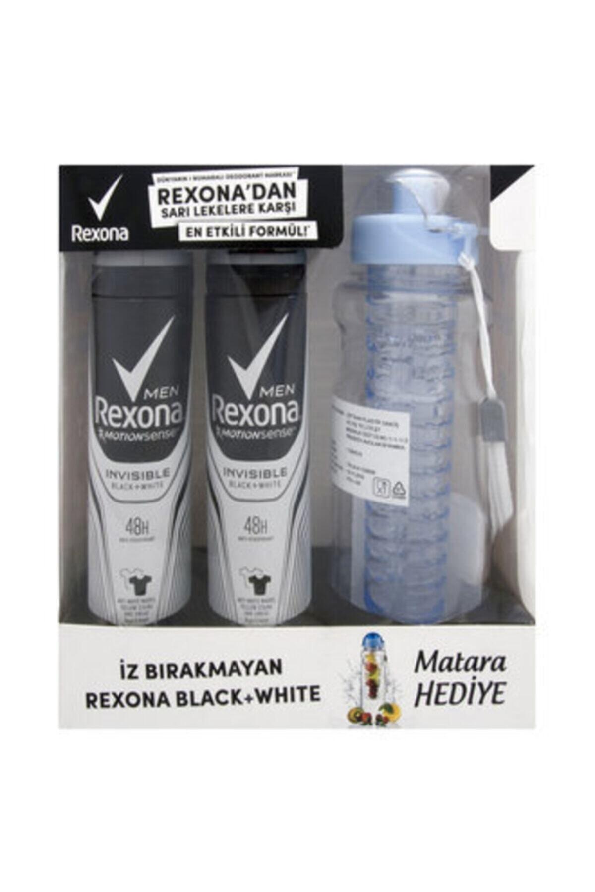 Rexona Men Invisible Bw Deo Sprey 2x150 Ml + Su Matarası 1