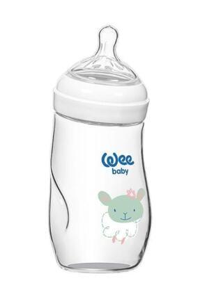Wee Baby Natural Isıya Dayanıklı Açılı Cam Biberon 260 Ml Kod 147
