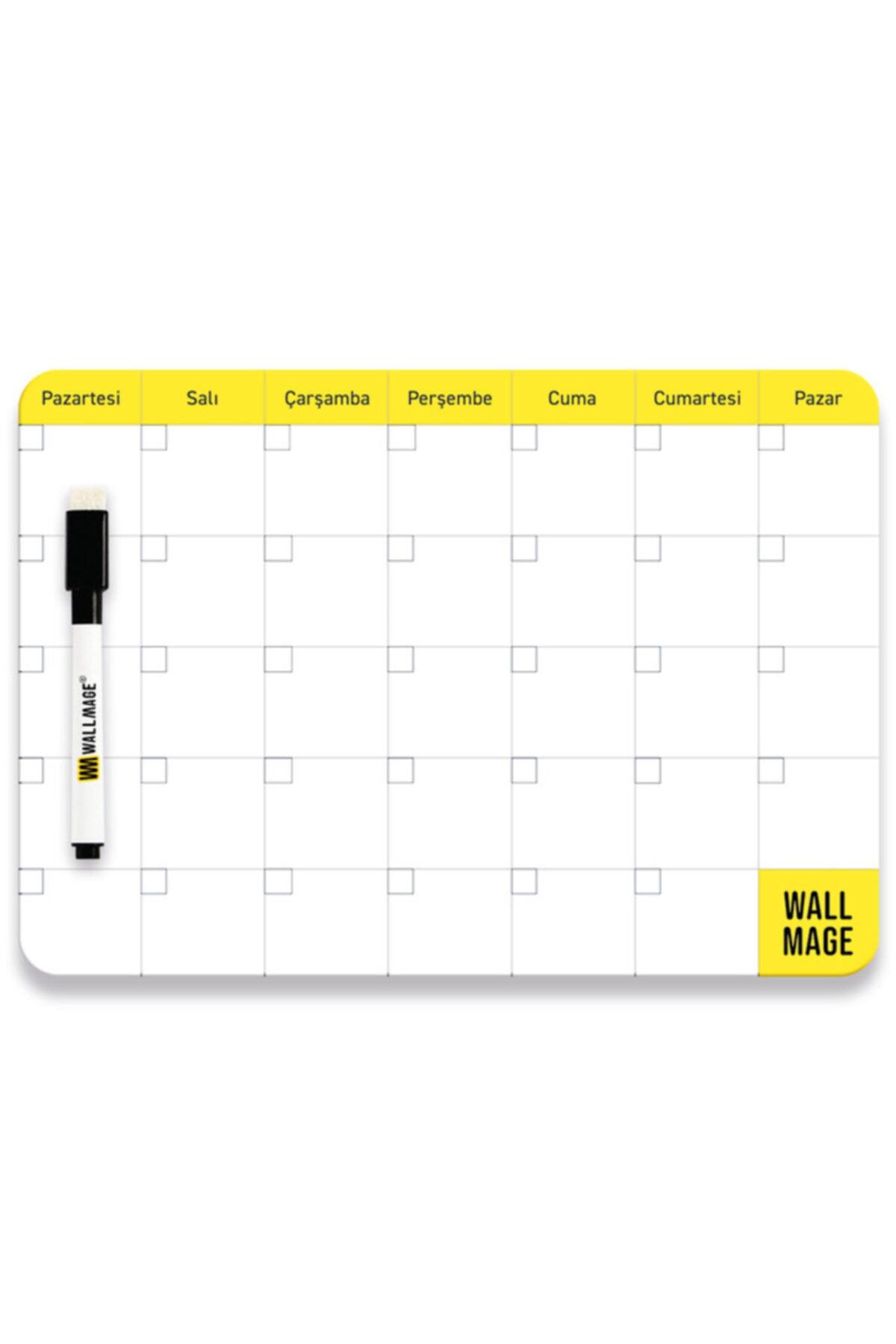 WALLMAGE Easyboard Haftalık & Aylık Planlayıcı- A4 (21 X 29.7 Cm) 1