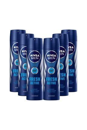 Nivea Men Fresh Active Deodorant 150 Ml 6 Adet
