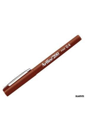 artline 200 Fineliner 0.4mm Ince Uçlu Yazı Ve Çizim Kalemi Kahverengi