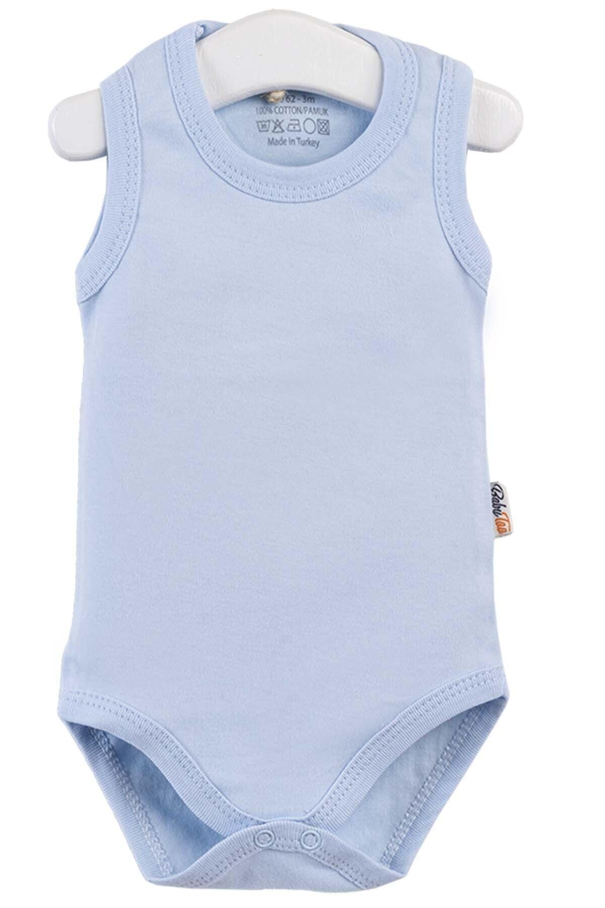 Pattaya Kids Unisex Bebek Mavi Baskılı Zıbın Seti 4' lü 2