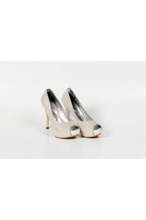 Karaca Kadın Beyaz Sade Simli Ayakkabı