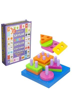 DIYTOY Baby Geo Şekiller Ve Eğitici Kartlar 5li