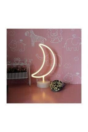 Doğuş Dogusdeco Ay Neon Led Işıklı Masa-gece Lambası Dekoratif Neon Led Lamba