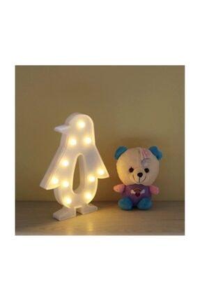 Doğuş Dogusdeco Penguen Beyaz Led Lamba - Gece Lambası - Dekoratif Aydınlatma