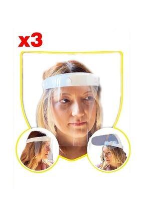 TİNK Yüz Koruyucu Siperlik Maske Yüz Maskesi (3'lü Set)