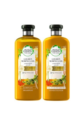 Herbal Essences Herbalessences Şampuan Altın Moringa Yağı 400ml + Saç Bakım Kremi 360ml