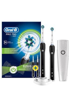 Oral-B Pro 790 Şarj Edilebilir Diş Fırçası Siyah 2'li Avanta