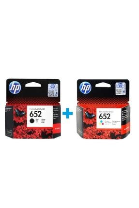 HP 652 Siyah F6v25ae + 652 Renkli F6v24ae Orijinal Kartuş Seti