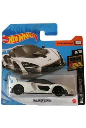 HOT WHEELS Beyaz Tekli Arabaları Mclaren Senna Oyuncakları Ghd18
