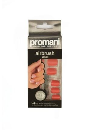 Promani Nar Çiçeği Rengi Takma Tırnak - Air Brush Nails Fingers 5001 800307050018