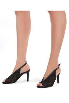 Gökhan Talay Siyah Kadın Klasik Topuklu Ayakkabı