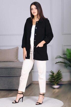 Madmext Kadın Siyah Düğmeli Ceket Mg689