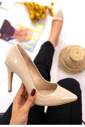 Erbilden Kadın Vizon Taylox Rugan Stiletto Ayakkabı