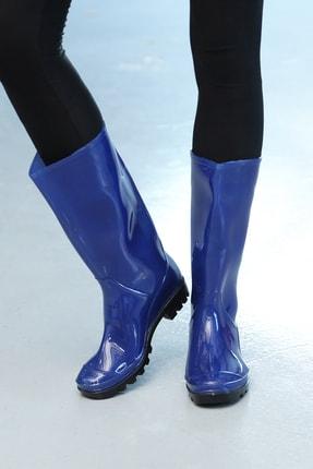 Ayakkabı Modası Kadın Lacivert Yağmur Çizmesi