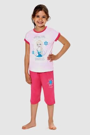 Frozen Lisanslı Açık Orkide Kız Çocuk Pijama Takımı