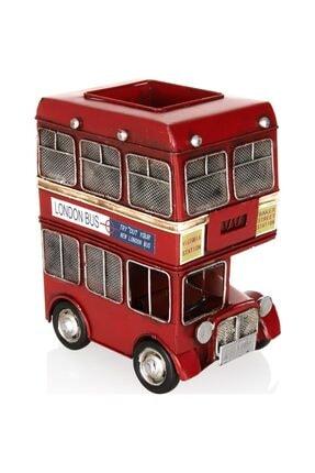 Mnk Dekoratif Metal Araba Londra Şehir Otobüsü Kalemlik