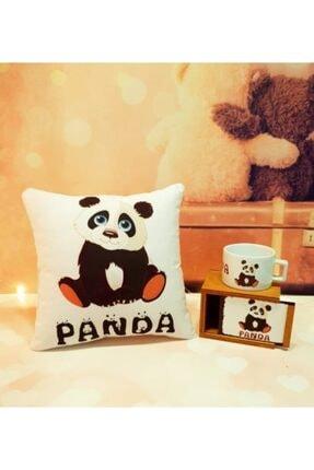 yar hediyelik Panda Yastık Ve Kutulu Kupa Hediye Seti