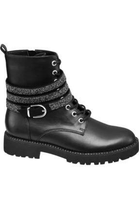 Catwalk Deichmann Kadın Siyah Bağcıklı Bot 11113762