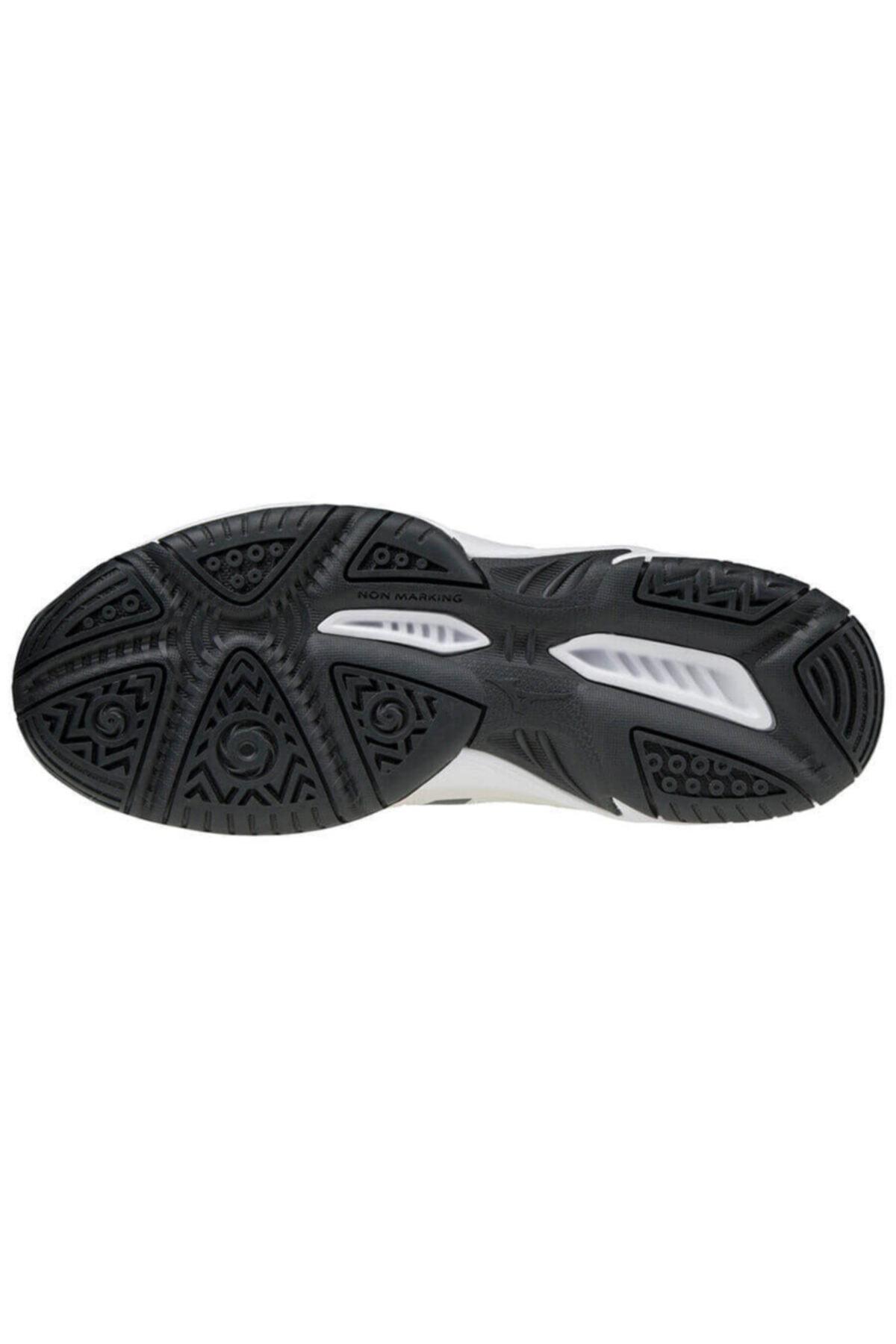 MIZUNO Unısex Beyaz Mavi Voleybol Ayakkabısı 2