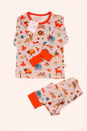 Milk & Muffin Unisex Çocuk Organik Pijama Takımı