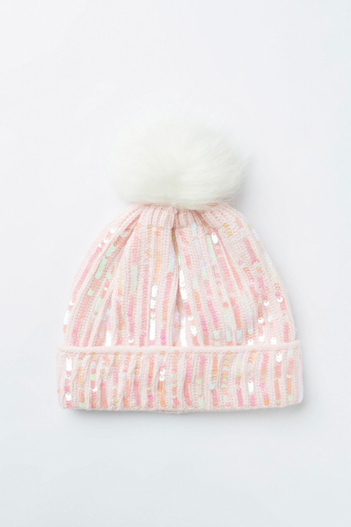 Penti Kız Çocuk Pink Payette Bere
