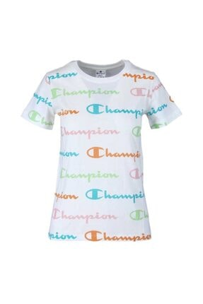 Champion Kadın Beyaz T-shırt 112603-wl002