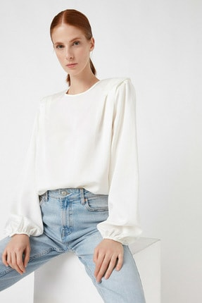 Koton Kadın Beyaz Bluz 1KAK68454PW