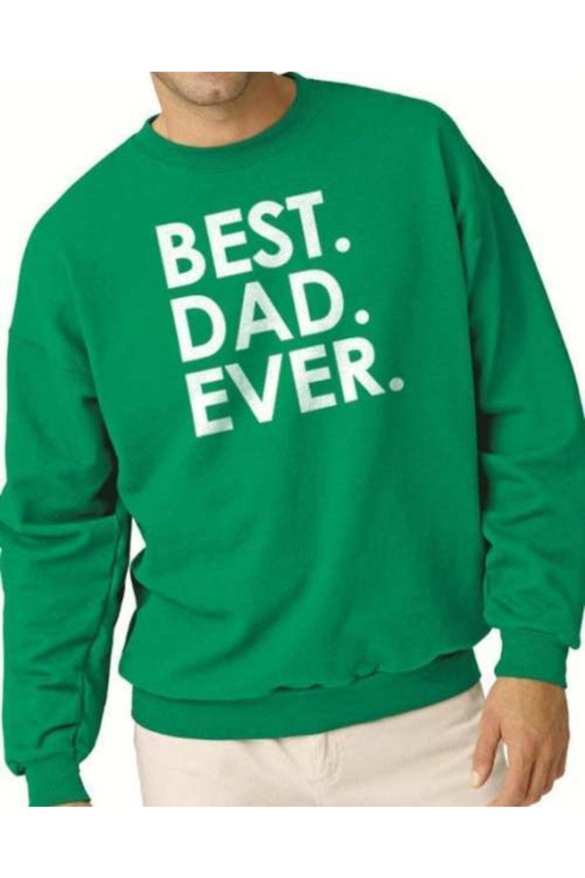 BSBSPOR Erkek Yeşil Best Dad Ever Sweatshirt 1