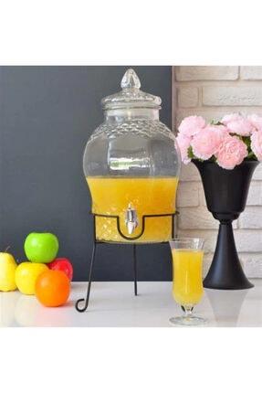 Lira Şeffaf 6lt Cam Şerbetlik Ayaklı Musluklu Limonata Su Sebili