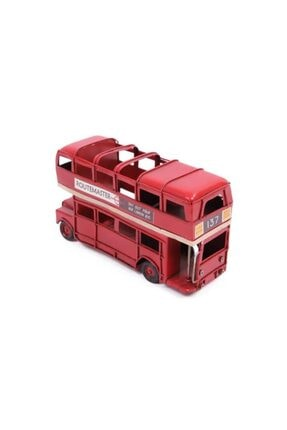 Berrinstore Londoner Vintage Dekoratif Metal Araba London Bus Kalemlik