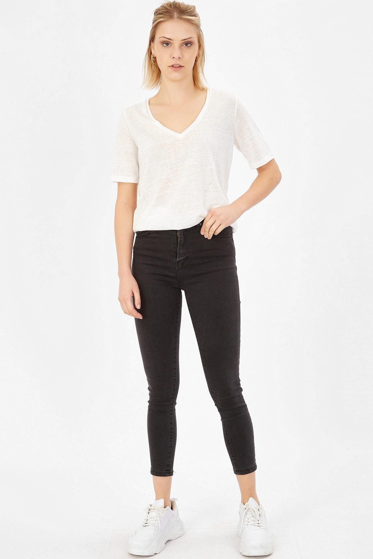Arma Life Kadın  Füme Yüksek Bel Likralı Pantolon 1