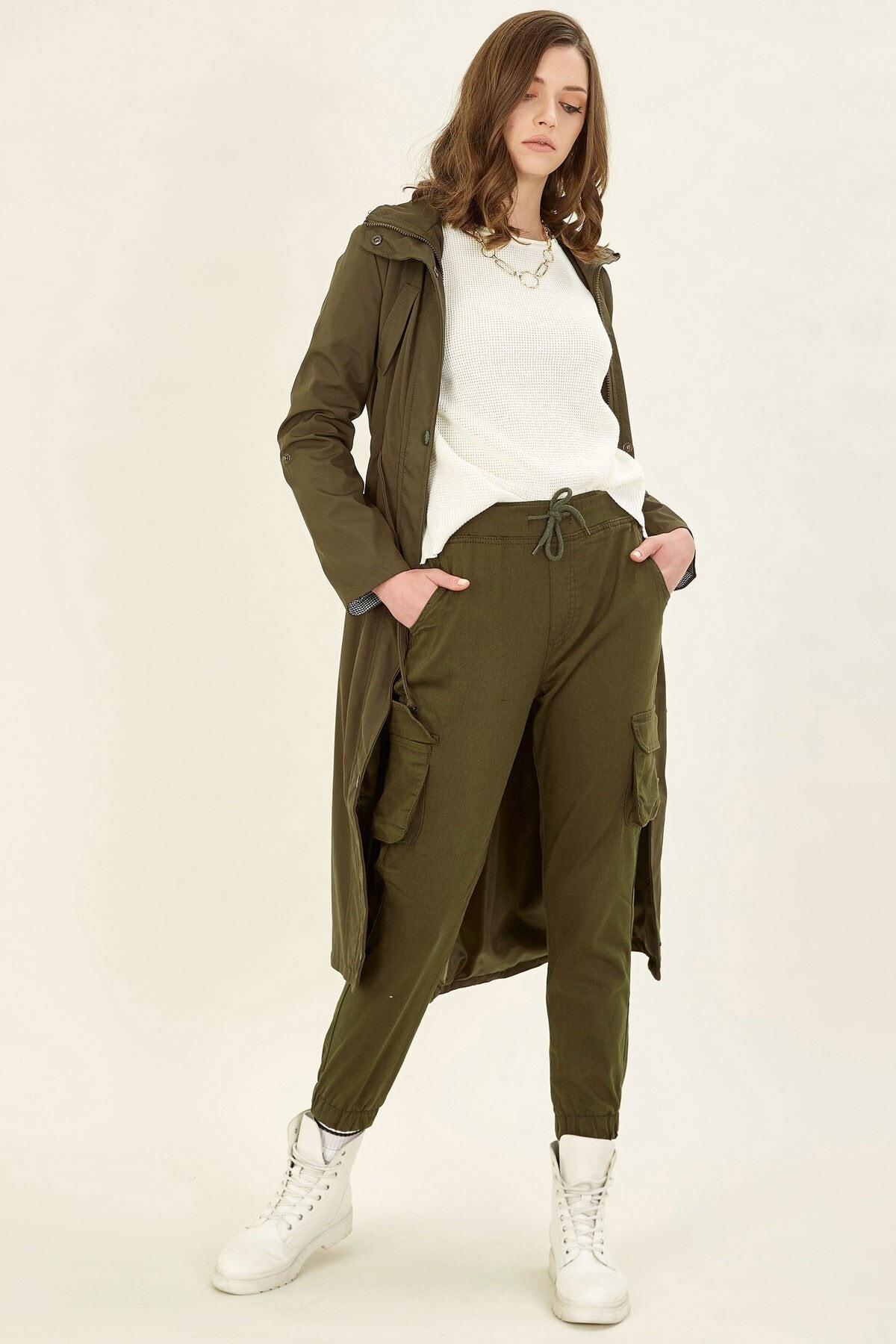Arma Life Kadın Haki Kargo Pantolon 1