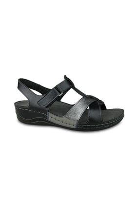 Ceyo Kadın Siyah Sandalet 9946-17 (35-41)