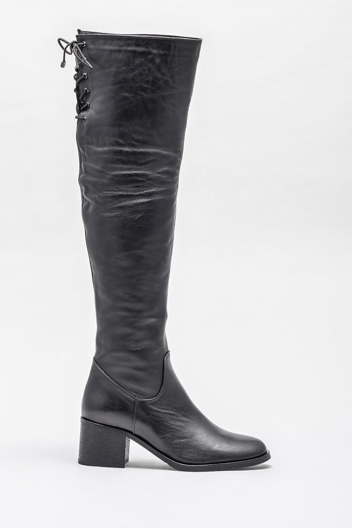 Elle Shoes Kadın Karons Sıyah Çizme 20KRE2706 1