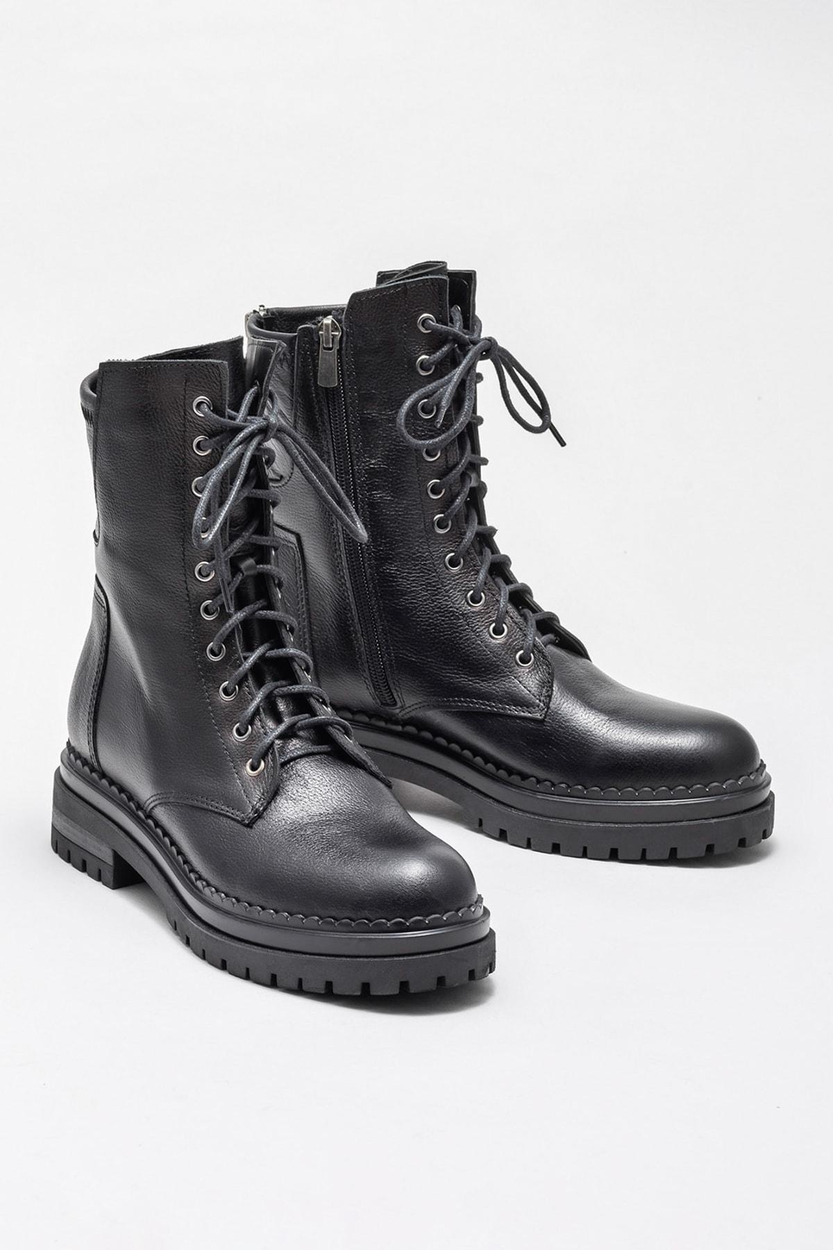 Elle Shoes Kadın Jhosset Sıyah Bot & Bootie 20KIK4572 2