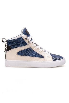 Pegia Kadın Mavi Hakiki Deri Sneaker La1211