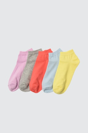 TRENDYOLMİLLA Sarı 5'li Paket Örme Çorap TWOSS21CO0014