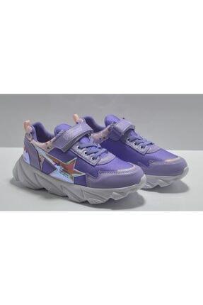 Ata Ayakkabı Çanta Kız Çocuk Mor Bantlı Spor Ayakkabı