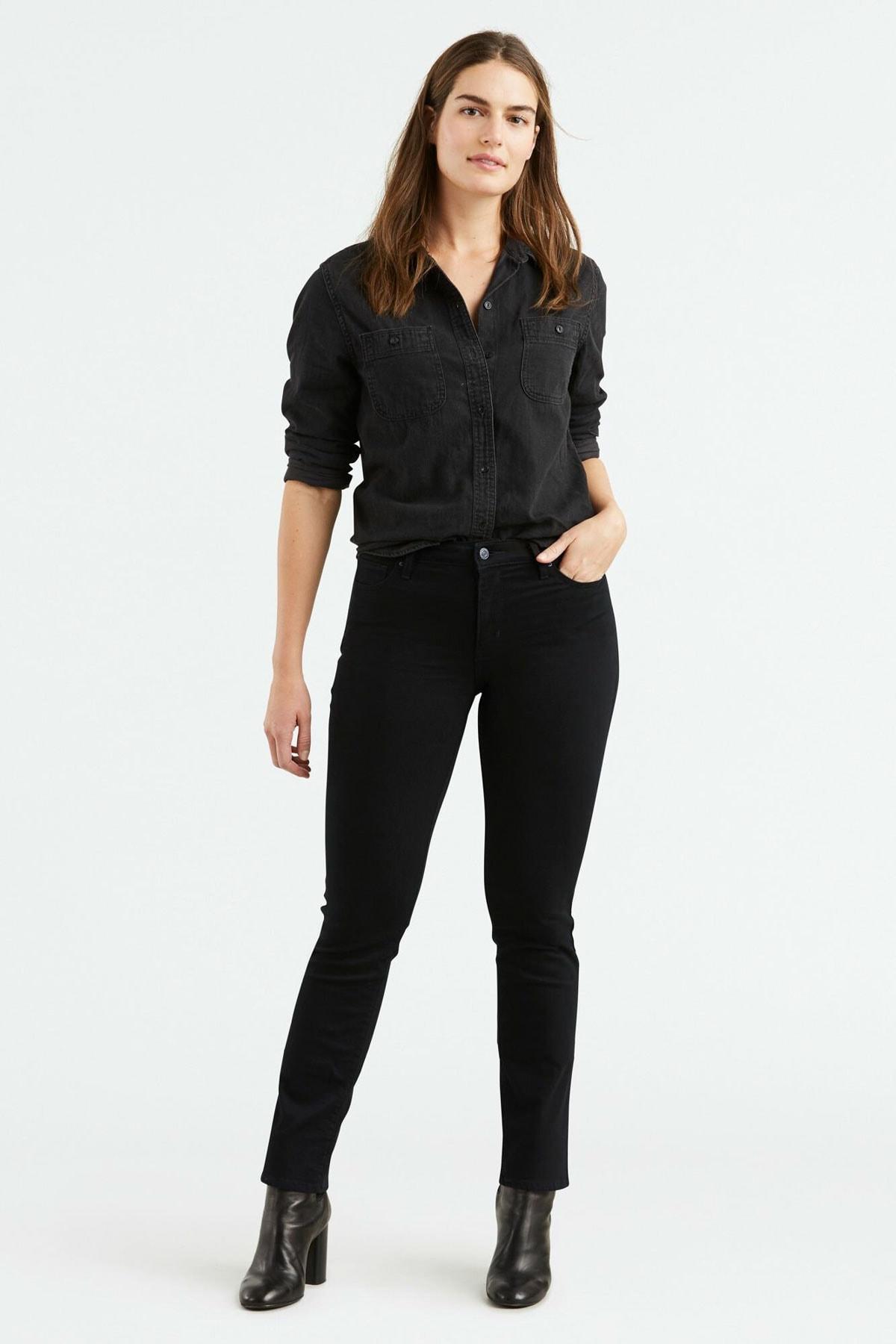 Levi's Kadın Siyah 712 Slim Jean 18884-0001 1