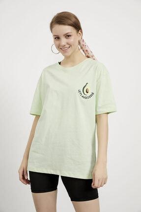 Arma Life Kadın Yeşil Avokado Nakışlı Tshirt