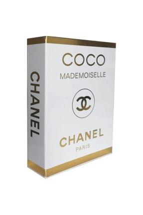 DE HOME Chanel Coco Mademoiselle Dekoratif Kitap Kutu - Gold/beyaz