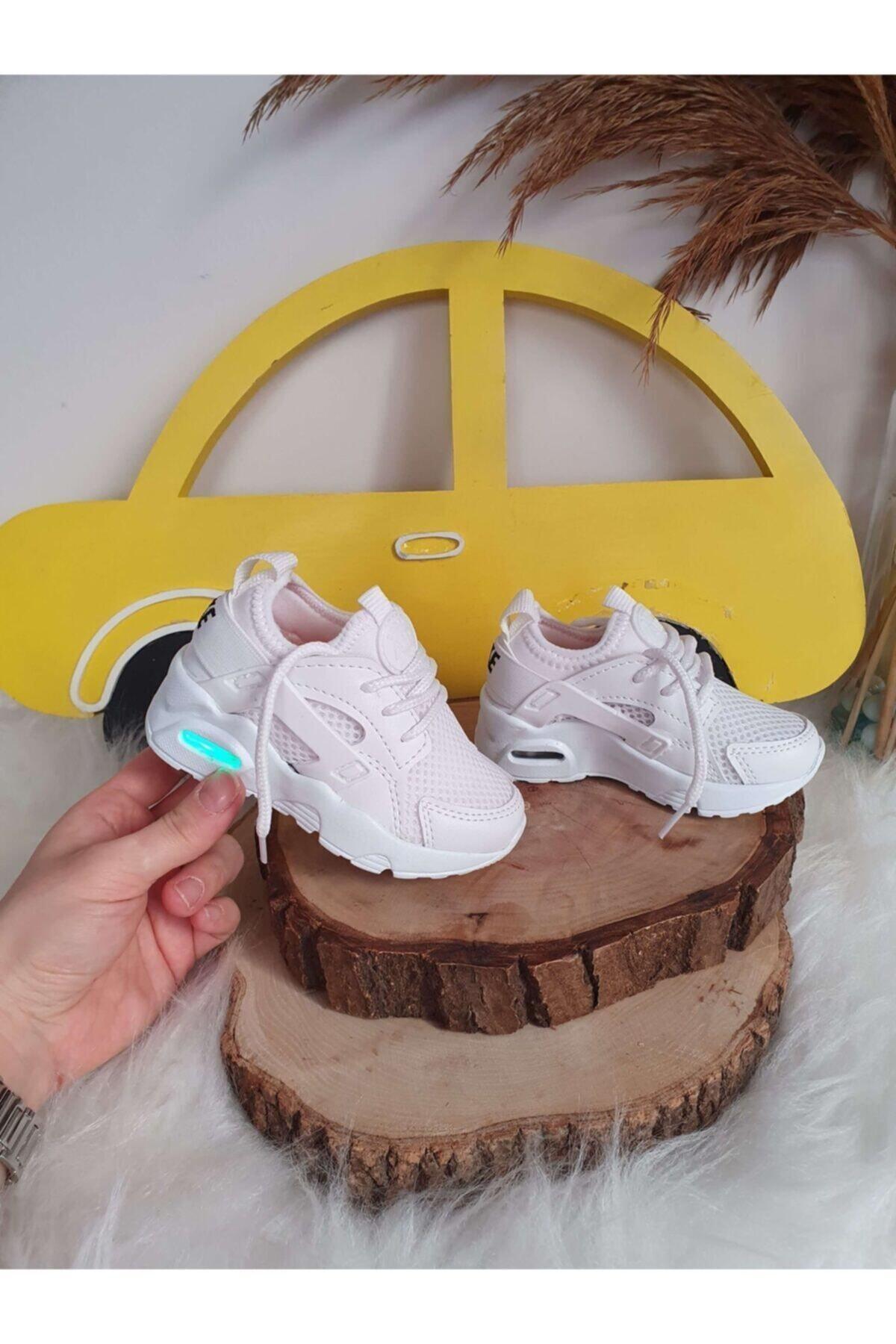 VOSVOSBABY Işıklı Beyaz Ayakkabı 1