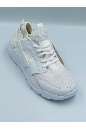 Pierre Cardin Beyaz Fileli Huarache Ortopedik Hafızalı Tabanlıklı Hafif Rahat Konforlu Spor Ayakkabı
