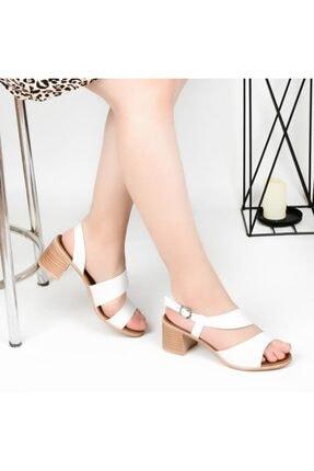 Pandora Kadın Beyaz Topuklu Günlük Sandalet